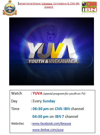 Youth Program  on IBN 7 and CNN IBN on every Sunday in Hindi and English