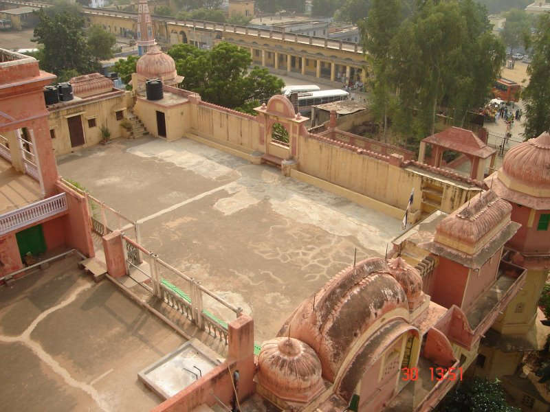 A View of the Ashrama Temple